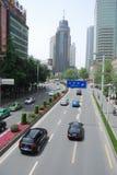 Calle de Chengdu, China Zongfu Imagenes de archivo