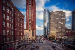 Calle de Chicago Foto de archivo libre de regalías
