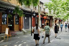 Calle de China, Chengdu Fotos de archivo libres de regalías
