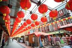 Calle de Chinatown en el distrito de Singapur Chinatown Fotografía de archivo