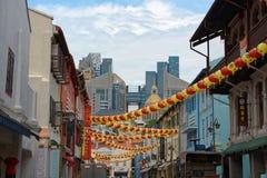 Calle de Chinatown en Singapur Imagenes de archivo