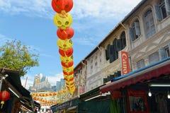 Calle de Chinatown en Singapur Foto de archivo