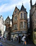 Calle de Cockburn en Edimburgo fotografía de archivo libre de regalías