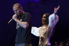 Calle 13 de concert Photos libres de droits