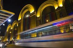 Calle de Corrientes, Buenos Aires Fotos de archivo libres de regalías