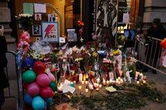 Calle 24 de David Bowie Memorial At 285 Lafayette Foto de archivo