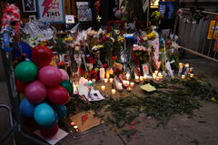 Calle 29 de David Bowie Memorial At 285 Lafayette Imágenes de archivo libres de regalías