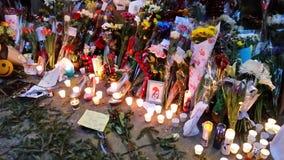 Calle 30 de David Bowie Memorial At 285 Lafayette Fotos de archivo libres de regalías