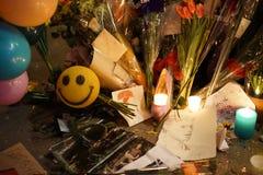 Calle 57 de David Bowie Memorial At 285 Lafayette Fotos de archivo libres de regalías