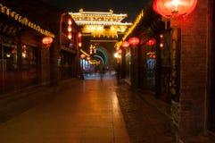 Calle de Dongguan en ciudad vieja del ` s de Yangzhou Provincia de Jiangsu, China Imagen de archivo libre de regalías