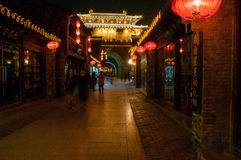 Calle de Dongguan en ciudad vieja del ` s de Yangzhou Provincia de Jiangsu, China Imágenes de archivo libres de regalías
