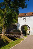 Calle de Dupa Ziduri - Brasov Fotografía de archivo libre de regalías