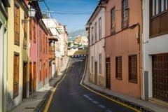 Calle de Emty de la ciudad vieja de La Orotava Imagenes de archivo
