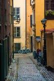 Calle de Estocolmo Imagen de archivo libre de regalías