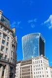 Calle de Fenchurch del rascacielos 20 en la ciudad de Londres Foto de archivo