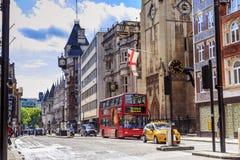 Calle de flota, Londres Fotografía de archivo