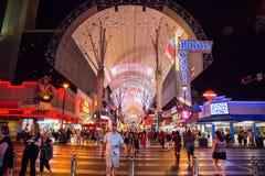 Calle de Fremont en Las Vegas imagen de archivo