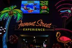 Calle de Fremont en Las Vegas foto de archivo