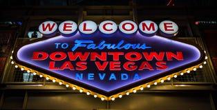 Calle de Fremont en Las Vegas y la libertad imágenes de archivo libres de regalías