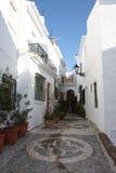 Calle de Frigiliana (España) Imágenes de archivo libres de regalías
