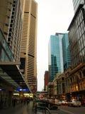 Calle de George, ciudad de Sydney Imágenes de archivo libres de regalías
