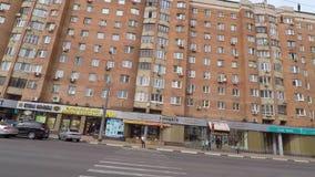 Calle de Gorki en Nizhny Novgood almacen de metraje de vídeo