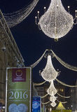 Calle de Graben en Viena en la noche Fotografía de archivo libre de regalías
