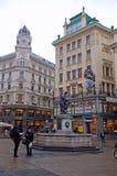 Calle de Graben, Viena, Austria fotografía de archivo