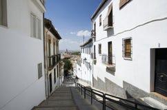 Calle de Granada Foto de archivo libre de regalías