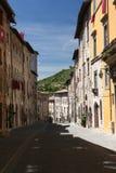 Calle de Gubbio Imágenes de archivo libres de regalías