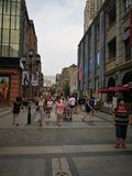 Calle de Han en la ciudad de Wuhan Fotos de archivo