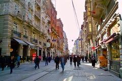 Calle de Istiklal Imagen de archivo libre de regalías