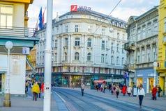 Calle de Jurisiceva en Zagreb fotografía de archivo libre de regalías