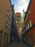 Calle de Kaletnicza en Gdansk Polonia Fotos de archivo