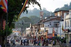 Calle de Kandy Imagenes de archivo