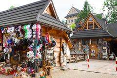 Calle de Krupowki en Zakopane, Polonia Imágenes de archivo libres de regalías