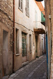 Calle de la aldea en Lefkara Imagenes de archivo