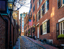 Calle de la bellota - Boston, Massachusetts, los E.E.U.U. imagen de archivo libre de regalías
