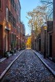 Calle de la bellota - Boston, Massachusetts, los E.E.U.U. fotografía de archivo libre de regalías