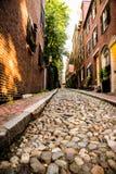Calle de la bellota en Boston en Massachusettes Imagen de archivo libre de regalías
