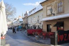 Calle de la calle de Tkalchicheva en Zagreb Foto de archivo
