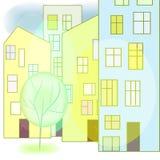 Calle de la ciudad stock de ilustración