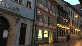 Calle de la ciudad de Bamberg metrajes