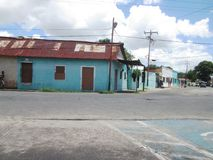 Calle de la ciudad de Bolivar, Venezuela, Foto de archivo