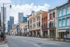 Calle de la ciudad de China en la ciudad de Singapur, Singapur Fotografía de archivo