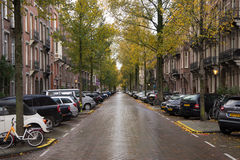 Calle de la ciudad de Amsterdam Fotos de archivo