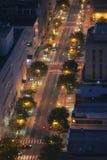 Calle de la ciudad de arriba Fotografía de archivo