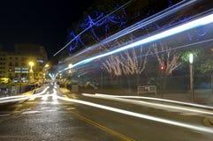 Calle de la ciudad de Elche en la noche Foto de archivo libre de regalías