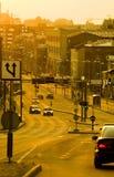 Calle de la ciudad de la tarde Fotografía de archivo libre de regalías