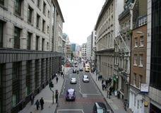 Calle de la ciudad de Londres Imágenes de archivo libres de regalías